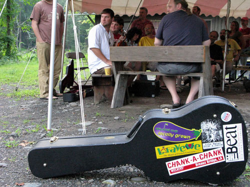 Ashokan (New York State), Southern Week, 2008. Workshop with The Red Stick Ramblers (here, Linzay Young and Kevin Wimmer)